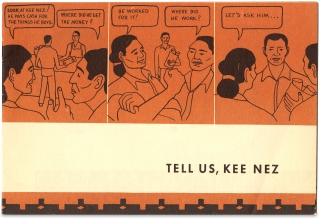 Tell Us, Kee Nez [Navajo Labor Primer]. Office of Indian Affairs The Navajo Service, photographer Milton Snow.