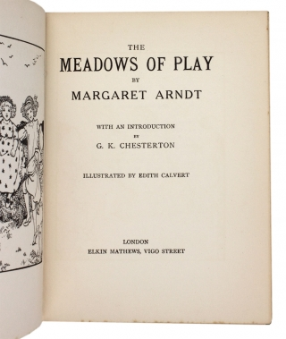 The Meadows of Play. [introduction by G.K. Chesterton]