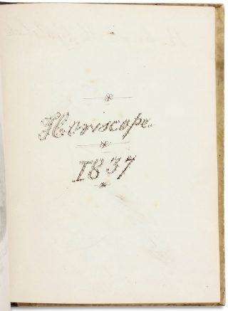 Horoscope 1837. [caption title of illustrated manuscript American astrological notebook]