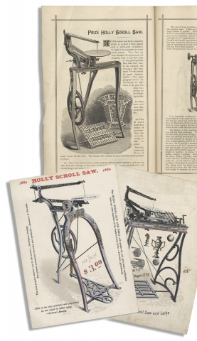 [C. 1877–1881 Scroll Saw Group: Trade Catalog, Chromolithographic Trade Cards, and Oversized Pattern Sheets etc.]