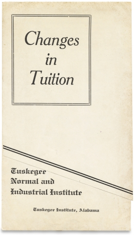 [Depression-Era Tuskegee Institute Circular, TLS, Tuition Leaflet].