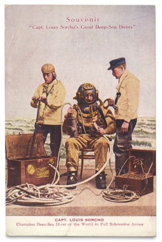 Captain Louis Sorcho. Great Deep-Sea Diver.