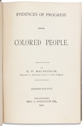 Evidences of Progress Among the Colored People. [Eighth Edition]