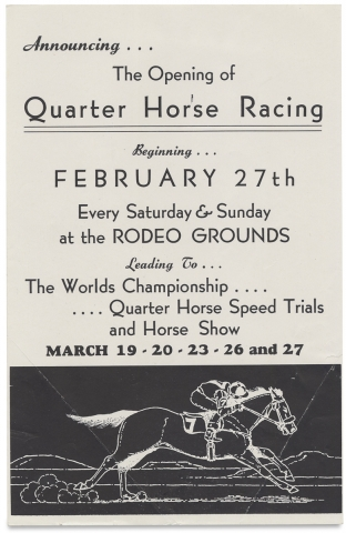 24th Annual Midwinter Rodeo, Tucson, Ariz. ...1949. La Fiesta de los Vaqueros [with related ephemera].