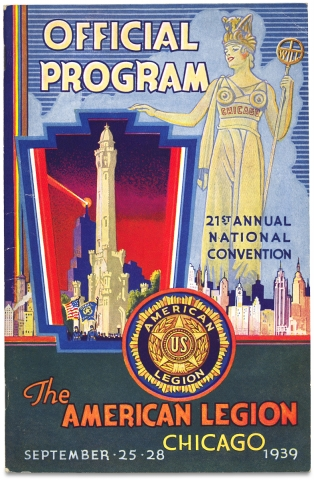 Chicago:] Official Program, 21st Annual National Convention, The American Legion, Chicago,...