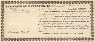 Thomas Ward Veazey as Maryland Governor in 1836 Appoints as Medical Coroner Samuel McBride in...
