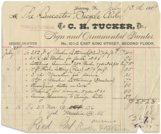 [1889 Lancaster Bicycle Club of Pennsylvania, Small Archive of Printed Matter, Correspondence, Receipts, and Other Papers].