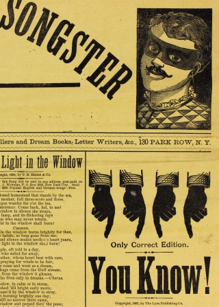 Clown's Giant Circus Songster. Extra Edition. [opening lines of broadside/propsectus]
