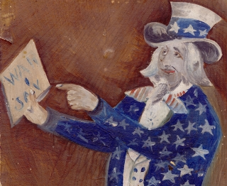 War I Say [caption title of Spanish-American War-Era Uncle Sam Painting].