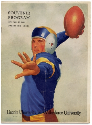 HBCU Football] Souvenir Program Sat., Nov. 16, 1946 ... Lincoln University vs. Wilberforce...