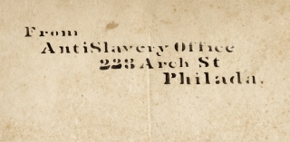 Lectures on Slavery and Its Remedy. [American Anti-Slavery Society stencil mark plus Pennsylvania Anti-Slavery Society inscription]