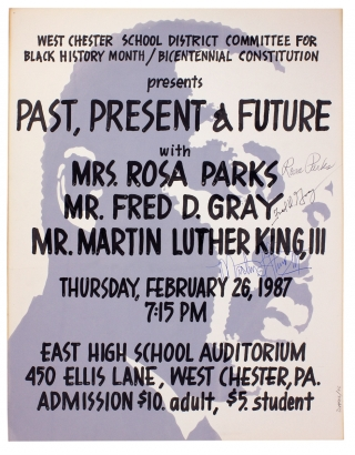 Signed by Rosa Parks et al.:] West Chester School District Committee for Black History Month /...
