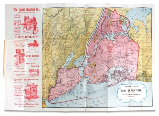 Pocket Map of Greater New York. [1896 Chicago Imprint]