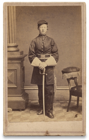 CDV Photograph of Drum Major George S. Beale, 68th Regiment U.S. Colored Infantry]. Drum Maj....