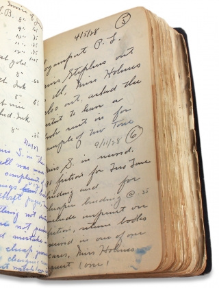 [1925–1931 Bookbinding Sales Manager's Memorandum Book for the National Library Bindery Co. Branch in Indianapolis].