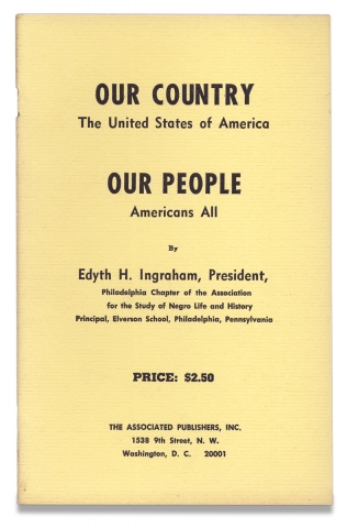 Our Country, The United States of America, Our People, Americans All. [cover title]. Edyth H....