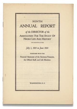 Ninth Annual Report of the Director of the Association for the Study of Negro Life and History...