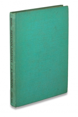 American Negroes. A Handbook. [inscribed and signed by the author]. Edwin R. Embree,...
