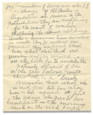 [Extraordinary 28-page Autograph Letter from a Patient with Mental Illness to U.S. Senator Boies Penrose].