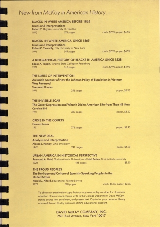 [Collection: The Association for the Study of Negro Life and History, Inc., 57th Anniversary ...1972].