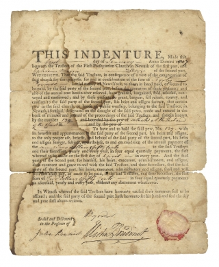 1807 Document Signed by Elisha Boudinot, Revolutionary War Patriot and New Jersey Supreme Court...