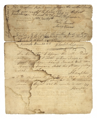 [1807 Document Signed by Elisha Boudinot, Revolutionary War Patriot and New Jersey Supreme Court Justice].