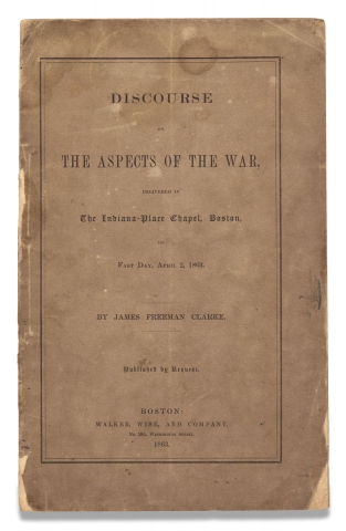 Discourse on The Aspects of the War, Delivered in The Indiana-Place Chapel, Boston, on Fast Day,...