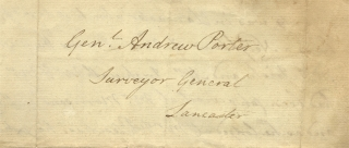 [C.1809–1813 Autograph Letter Signed by Nathaniel Irish to General Andrew Porter, both former Revolutionary War Officers and Founding Members of the Society of the Cincinnati].