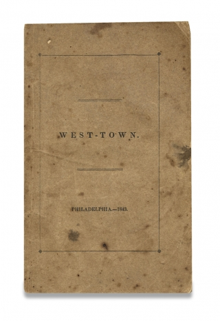 West-Town. [Westtown School; Chester County, Pennsylvania]. Joseph Kite