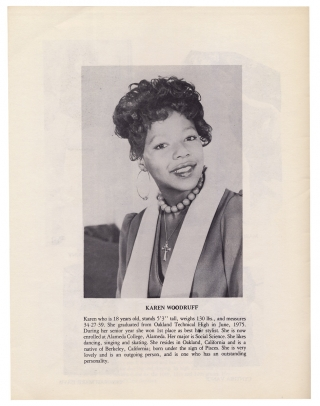 The Combination Calendar Girl Pageant presents 6th Annual The Twelve Choice of Beauty Contestants… [cover title of 1975 African American women's beauty pageant program]