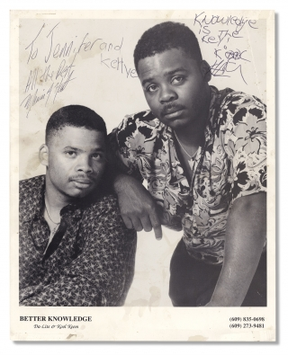 Publicity Photograph for Hip-Hop Artists Da-Lite and Kool Keem performing as Better Knowledge,...