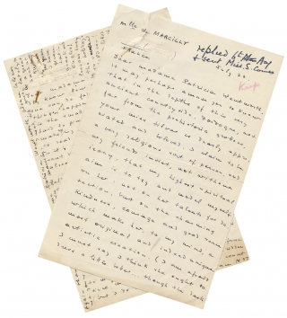 Two Fan Letters from a Woman to British Crime Fiction Writer Patricia Wentworth discussing...