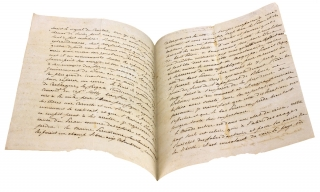 [1829 Autograph Letter Signed by a Papal Diplomat in Peru to American Diplomat William Tudor in Brazil, written days after the Battle of Tarqui and concerning the Liberator Simón Bolívar and the Wars and Unrest in South and Central America].