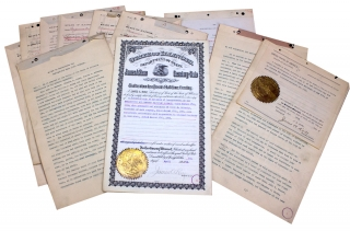1904 Springfield and Eastern Railroad of Illinois and New Jersey Articles and Certificate of...