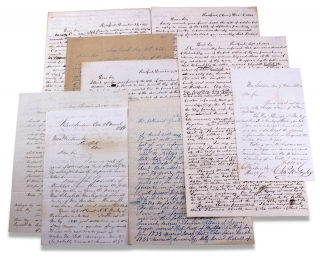 1844–1845 and 1854, Group of 9 Autograph Letters Signed to and from Nathaniel Goodwin of...