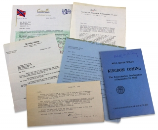 [1938–1965 Incoming Letters and Papers of American Civil War Historian Bell I. Wiley].
