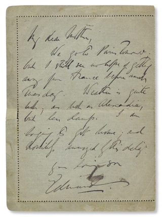 1919 Autograph Letter Signed by General Sir Edmund Allenby, on Active Service in France]. later...