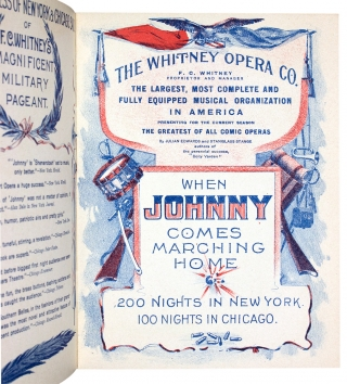 When Johnny Comes Marching Home. As Presented by the Whitney Opera Company. [cover title]