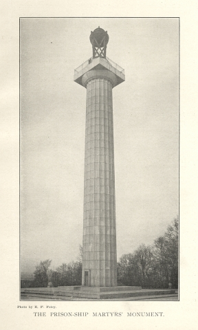 [Stanford White, Architect:] Dedication of the Prison Ship Martyrs Monument, November 14, 1908 [cover title].