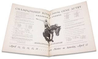 Gene Autry Championship Rodeo, Hershey Sports Arena April 11, 12, 14, 15, 16, – Matinee Saturday, April 12, 1941 [cover title].
