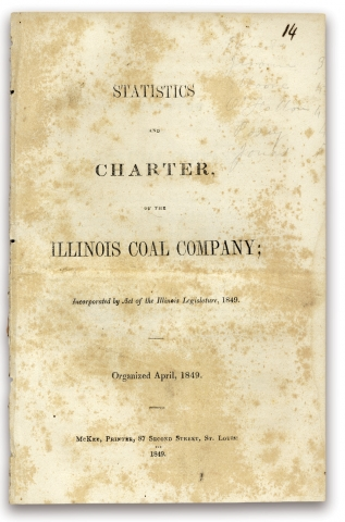 Statistics and Charter, of the Illinois Coal Company; incorporated by Act of the Illinois...