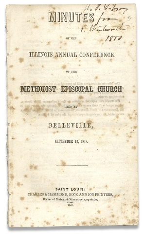 Minutes of the Illinois Annual Conference of the Methodist Episcopal Church held at Belleville,...