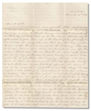 1849 Autograph Letter Signed Discussing the Carroll Family of Maryland by Charles Ridgely,...