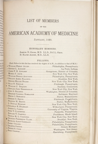[1876 to 1891 American Academy of Medicine Sammelband].