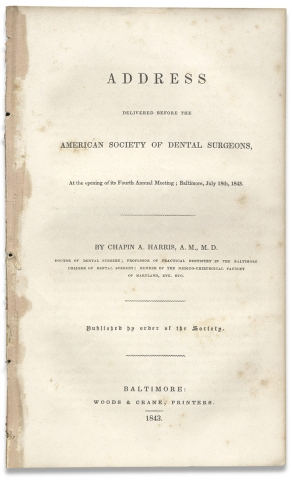 Address Delivered Before the American Society of Dental Surgeons, At the opening of its Fourth...