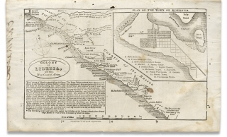 [Map of Colony of Liberia on the West Coat of Africa within:] Address of the Managers of the American Colonization Society, to The People of the United States, Adopted at their Meeting, June 19, 1832.