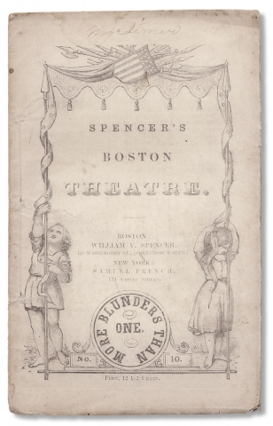 """More Blunders than One. A Farce.—-In one Act [Series title: """"Spencer's Boston Theatre.""""]"""