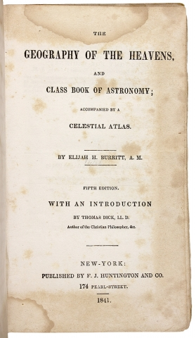 [Vernacular Book Covers] The Geography of the Heavens, and Class Book of Astronomy…
